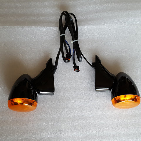 Road Glide Front Turn Signals Gloss Black (2015 and Newer)