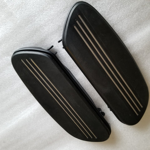 Rider Floor Boards with Streamliner Pads Denim Black (2007 & Newer Touring)