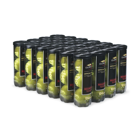 Wilson Tennis U.S.Open Tennis Balls - Regular Duty/Case