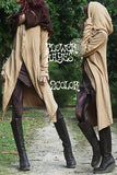 Big hooded cape style long cardigan (2colors)