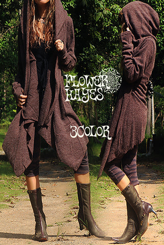 Big Hoodie Cowl Cardigan (3colors)