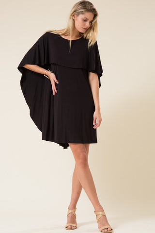 Back Neck Hole Cape Dress