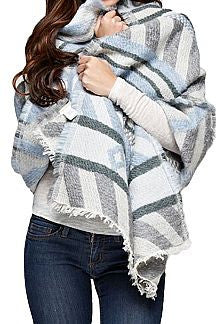 Arctic Pattern Wrap Scarf