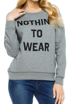 Nothing To Wear Long Sleeve Knit Top