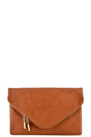 Envelope Clutch with Zipper Detail