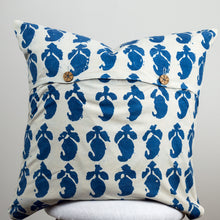 Natural Indigo Paisley Cotton Cushion Cover