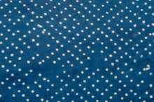 Handmade Natural Dyed Organic Cotton Crib Sheet - Indigo Dots