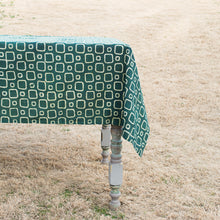 High Rise Emerald Green Cotton Tablecloth