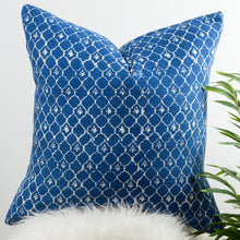 Morocco Lattice Pattern Indigo Cushion Cover