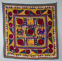 Vintage Kutch Embroidery, Wall Hanging 19th century Gujarat, India.