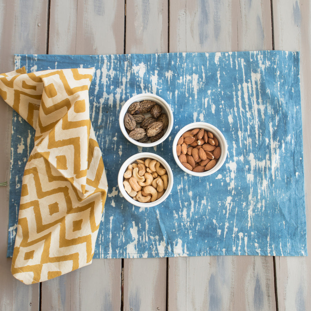 Block Printed Cotton Placemat