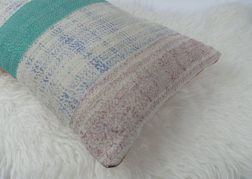 Kantha Lumbar Quilted Pillow