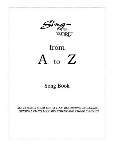 Sing The Word from A to Z Sheet Music Downloads