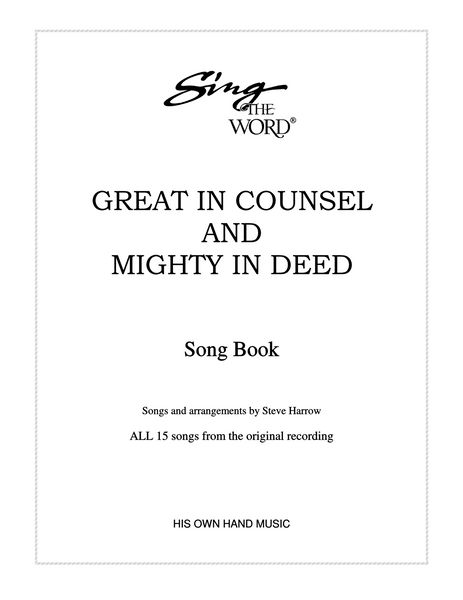 Great In Counsel Songbook