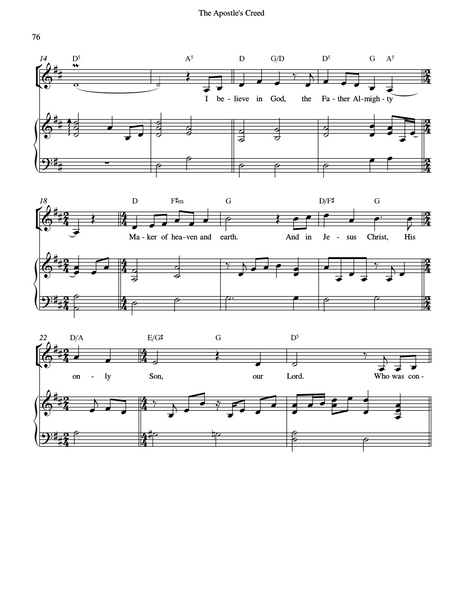 Credo Sheet Music Downloads