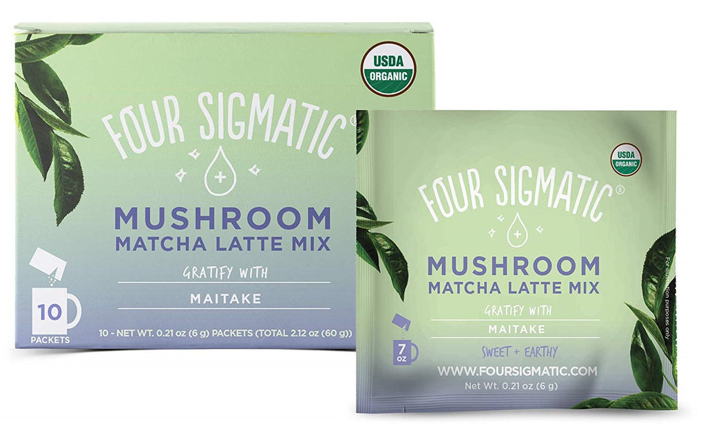 Four Sigmatic Matcha Latte met Maitake - Nootropic Tea - Nootropics supplementen voor Concentratie en Focus