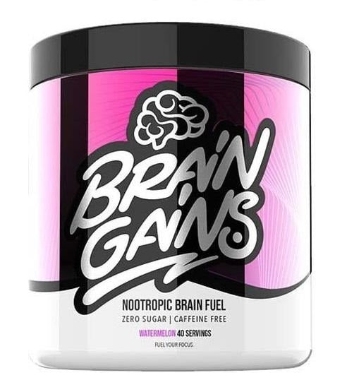 BrainGains Nootropics - Brain Fuel -  Powder Shake - Watermelon Flavor - Nootropics Shop