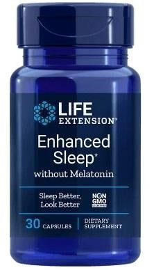 Life Extension Enhanced Sleep- Nachtrust - 30 Caps - Nootropics Kopen.