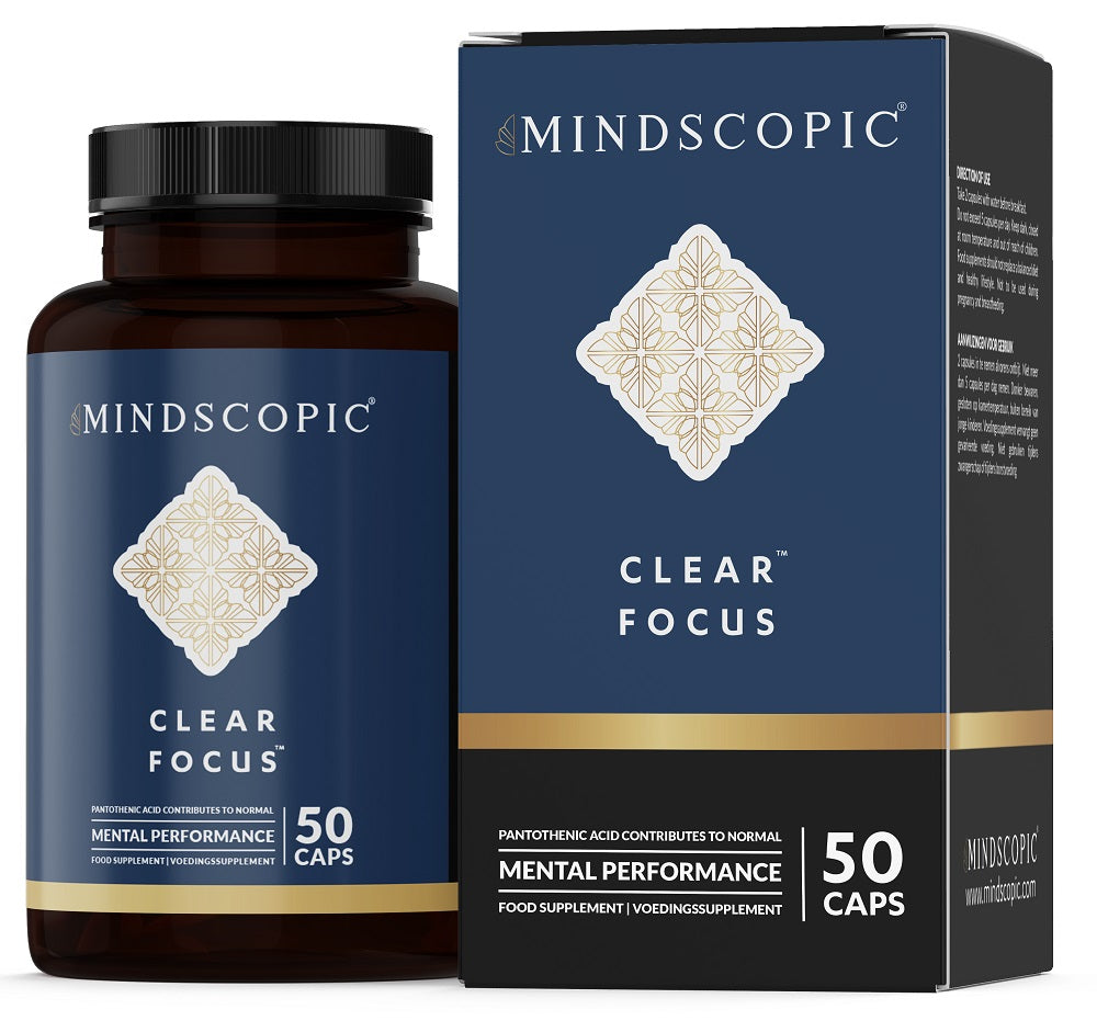 MINDSCOPIC® NOOTROPICS - CLEAR FOCUS™ - 50 Caps - Concentratie en Geheugen - Nootropics Shop