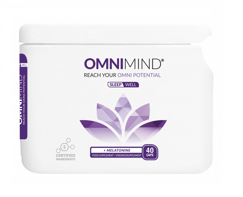 OmniMind Sleep - 40 Caps - Nachtrust - Nootropics supplementen voor Concentratie en Focus