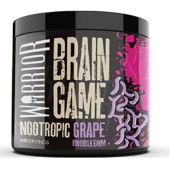 Warroir Brain Game - Powder Nootropics - Grape Bubblegum Flavor - Nootropics Kopen.