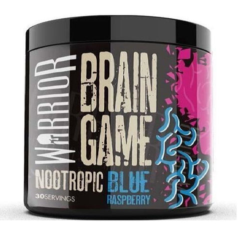 Warroir Brain Game - Powder Nootropics - Blue Raspberry Flavor - Nootropics Kopen.