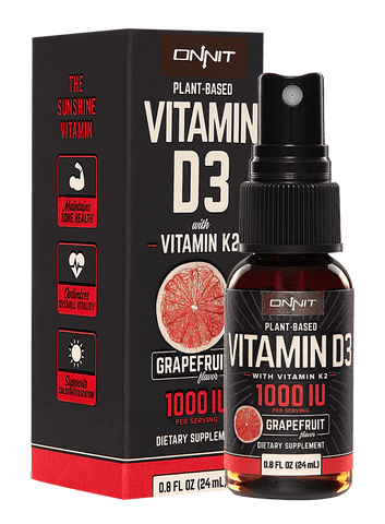 Onnit Vitamine D3 1.000 IE / 25 µg met Vitamine K2 Spray - Grapefruit - Nootropics Kopen.