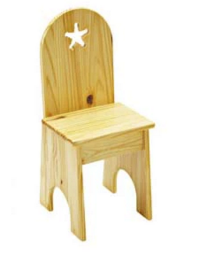 Child's Solid Back Wood Chair - Allen Booth