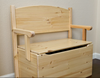 Wood Bench Toy Box
