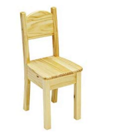 Child's Open Back Wood Chair