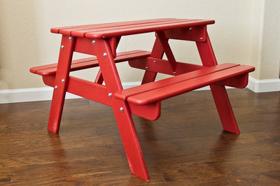 Children's Wooden Picnic Table - Allen Booth