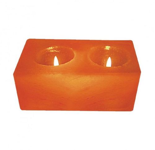 Natural Air Purifying Himalayan Double Candle Holder