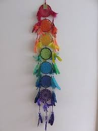 7 Chakras Beaded Dream Catcher