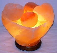 Himalayan Salt Heart Bowl with Heart Massage Stones