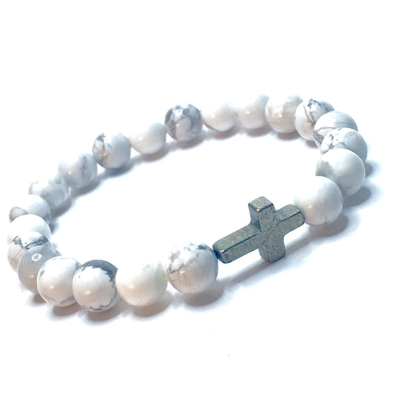 Gotta Have It: White Howlite Wraps the Cross ✝️