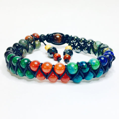 Power Stone Double Row Shamballa