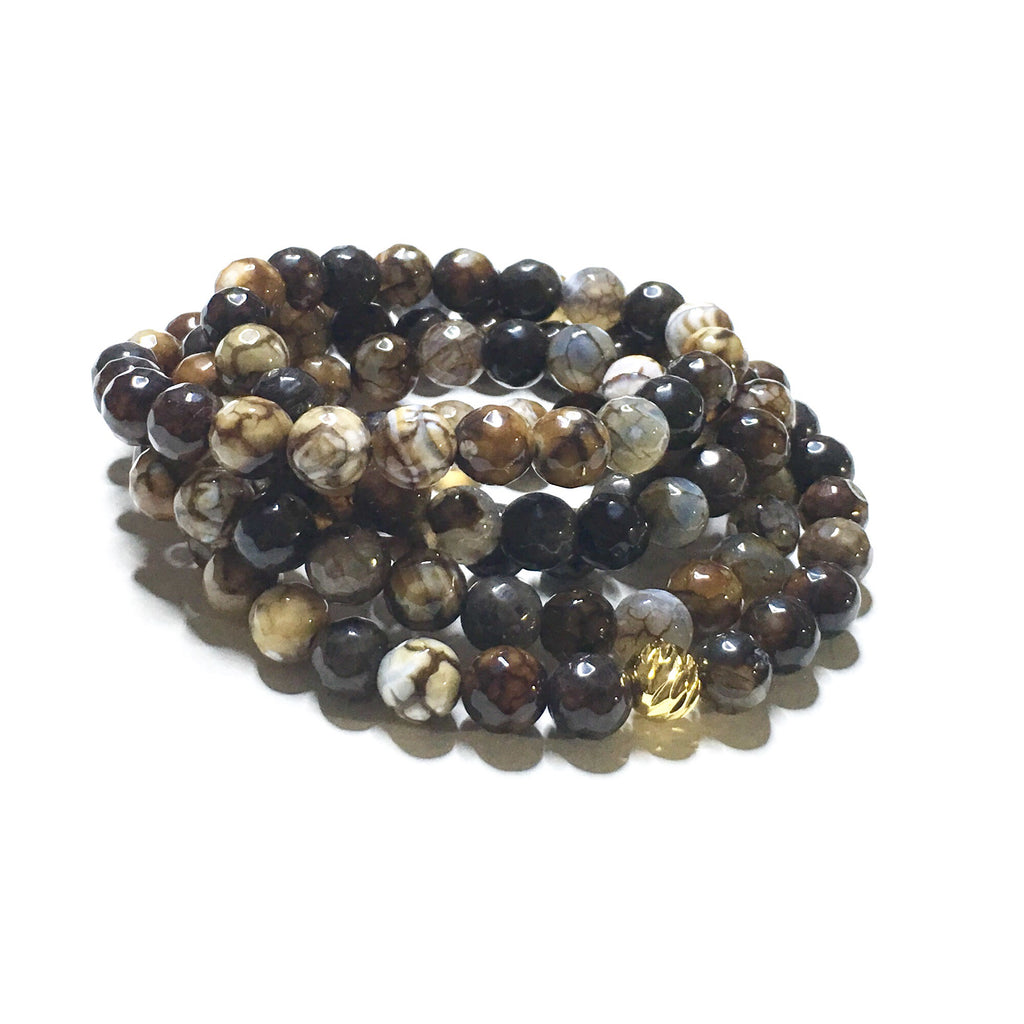 Earthy Fire Agate/Mala Wrap - SIMPLY SOFIA