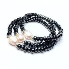 HEMATITE CROWNS SINGLE PEARL