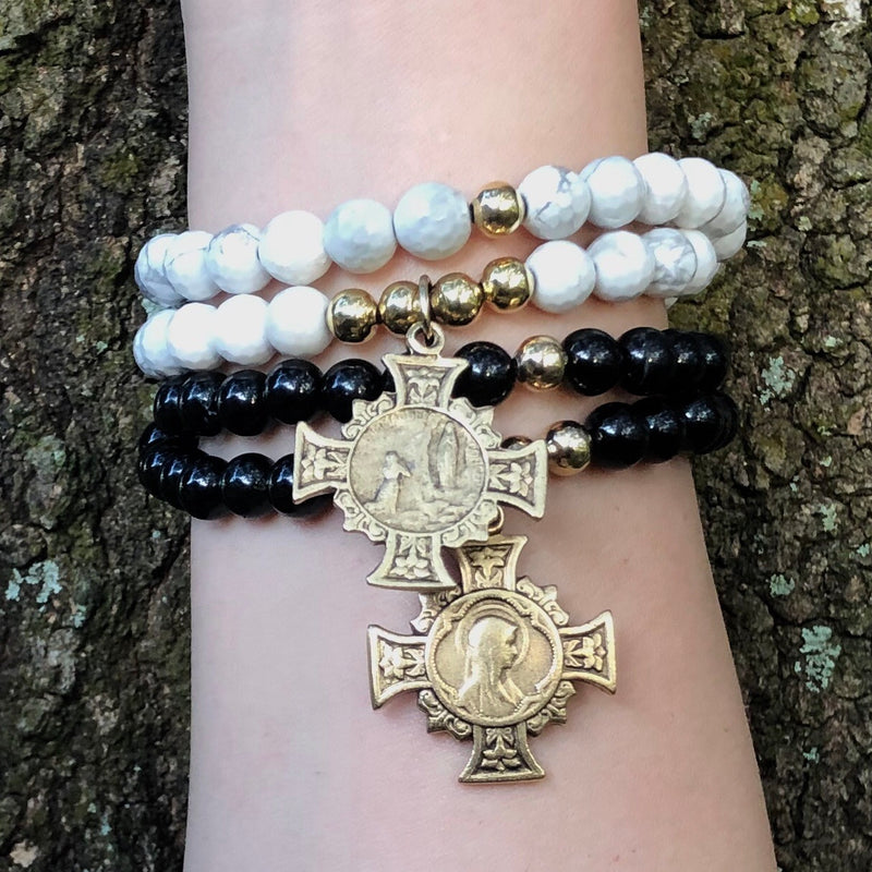 Our Lady of Lourdes Double Wrap (sold separately - image depicts both sides of the medal.) - SIMPLY SOFIA
