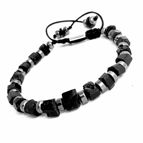 AZABACHE Black Onyx Stretch Bracelet