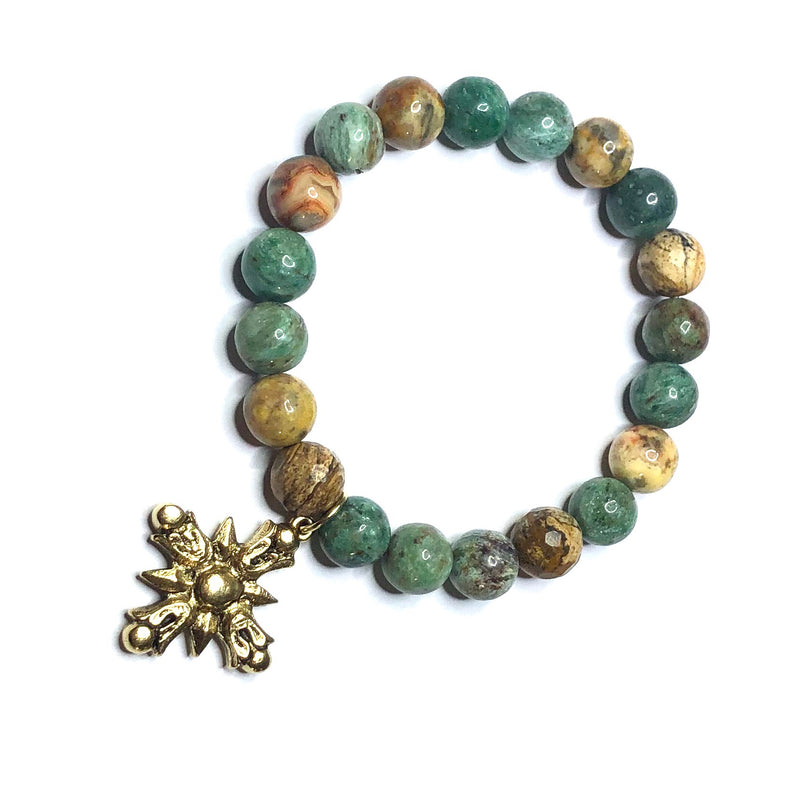 "The ""STAR"" Cross Gemstone Bracelet - SIMPLY SOFIA"