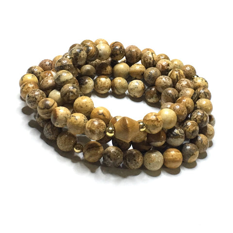 Ganesh Tiger's Eye Double Wrap