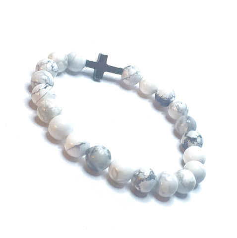 WHITE HOWLITE WRAPS THE CROSS - SIMPLY SOFIA