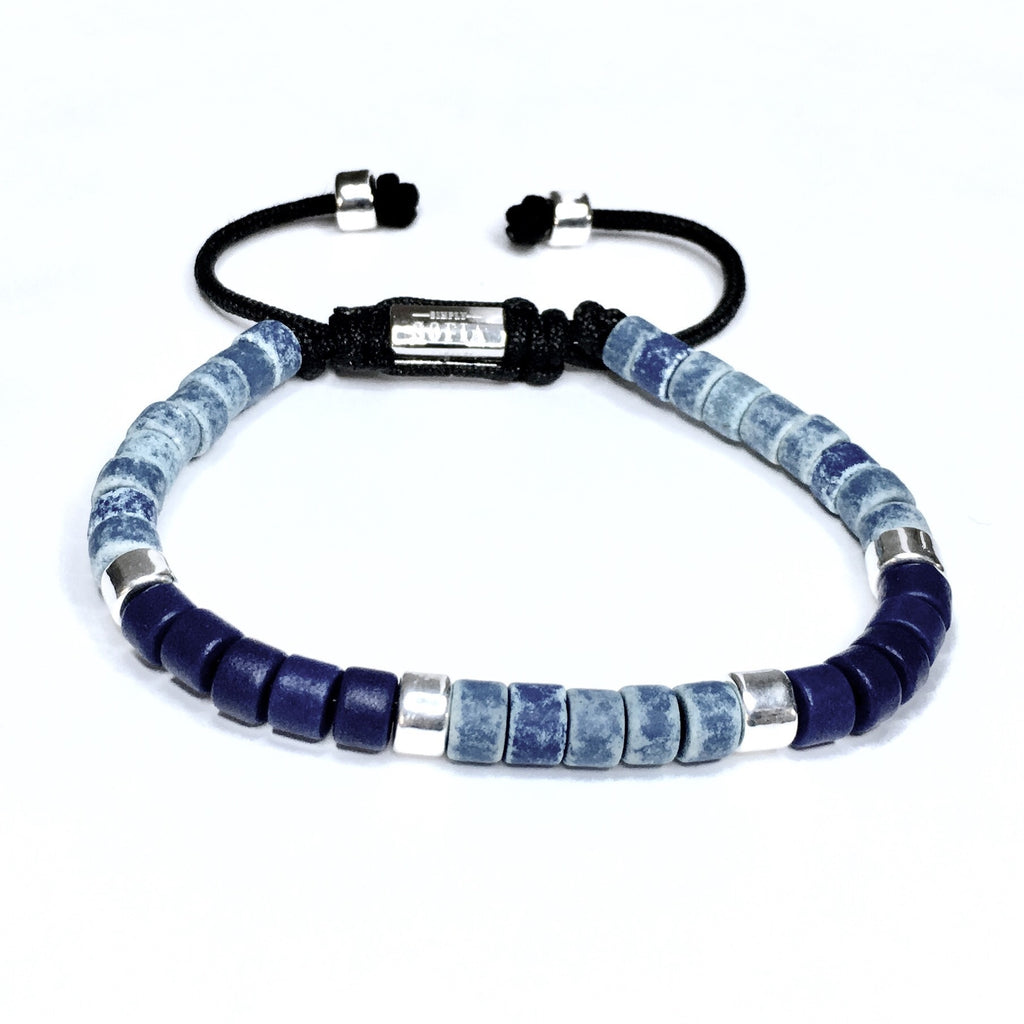The Calming Hues - Blue in Blue Shamballa Bracelet - SIMPLY SOFIA