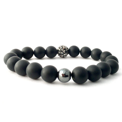 Power Stones - Polished Black Onyx + Hematite + Tiger's Eye