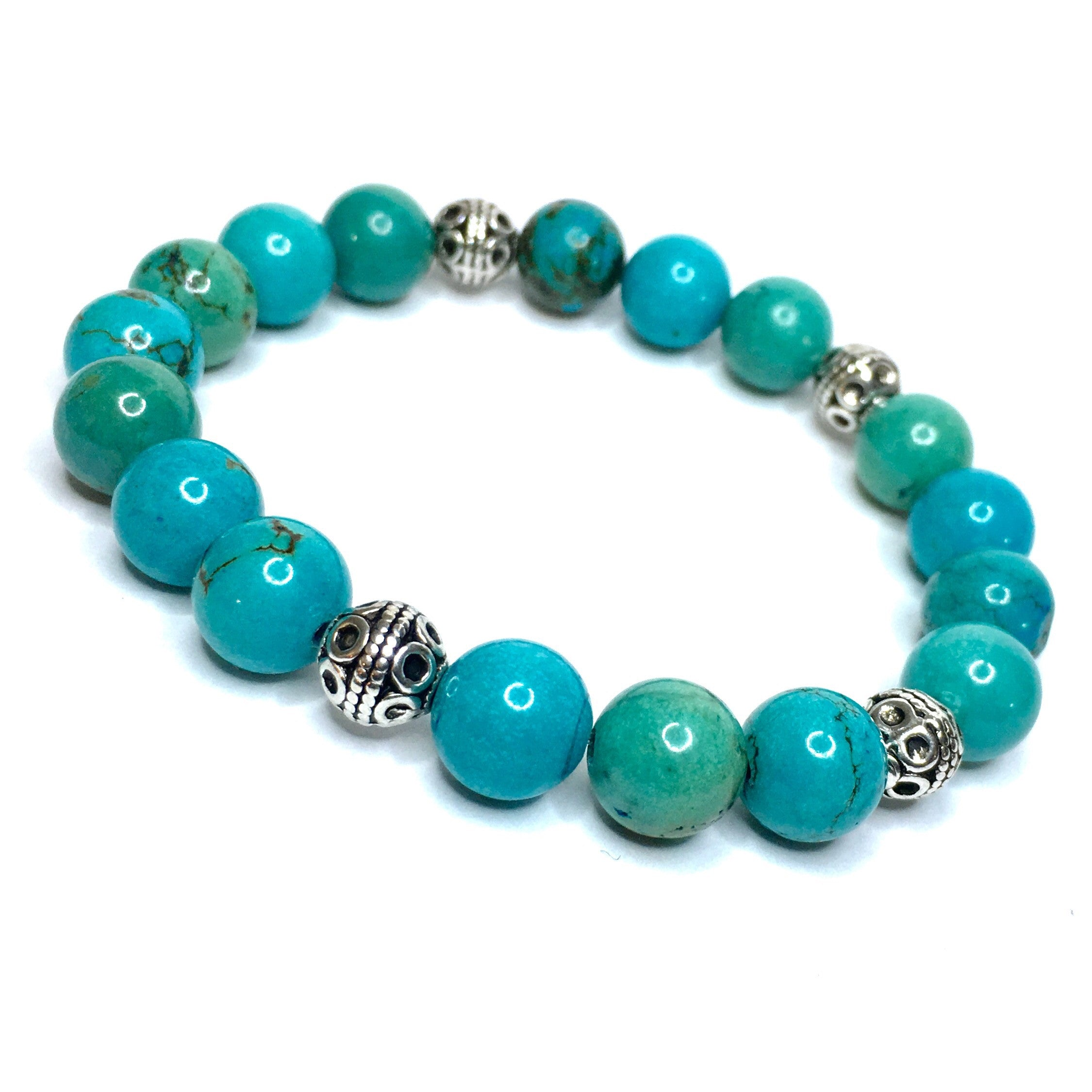 POLISHED TURQUOISE WITH ANTIQUE SILVER ACCENTS - SIMPLY SOFIA