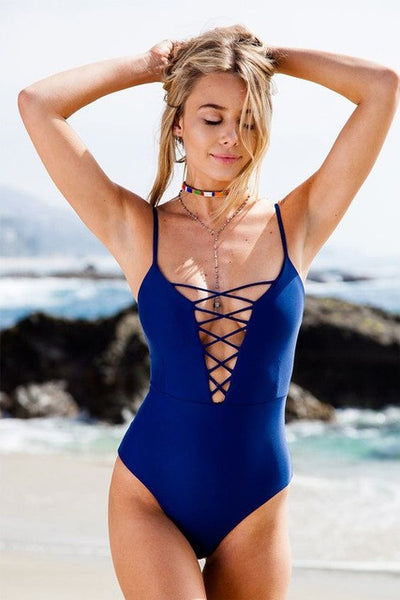 One Piece Vintage Monokini Swimsuit