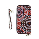 Printed Zip Around Clutch with Removable Wrist Strap - EZGetOne