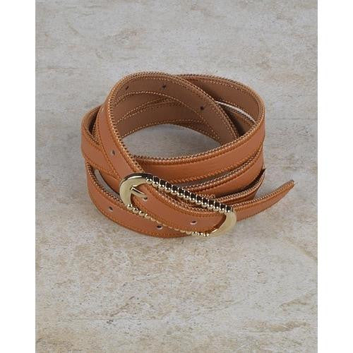 Rounded Rectangle Shaped Buckle Belt with Zip Detailing at the Edges - EZGetOne