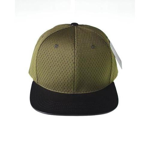 Snapback with Mesh Patterned Crown - EZGetOne